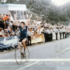 Colnago archives – Beppe Sarroni blasts to World Pro Road title in Goodwood, England in 1982. Rider with head down at right is runner-up Greg LeMond