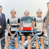 Colnago archives – Ernesto Colnago with his 1974 SCIC team; from left, Colnago, Gibi Baronchelli, Enrico Paolini, Franco Bitossi, unknown