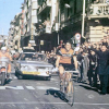 1970 – A delighted Michele Dancelli solos to a memorable victory in Milano-San Remo. It had been 16 seasons since an Italian had won La Primavera and Molteni man Dancelli did it with class and grinta – Colnago archives