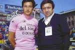 Colnago archives – Moments Of Glory – Saronni & Colnago together in Piazza Duomo, Milano as Saronni wins the Giro